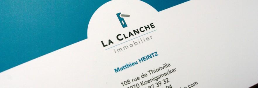 """photo  Chemise à rabats """"La Clanche Immobilier""""   conception d'une chemise à rabats"""