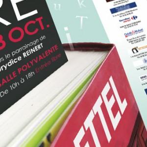 photo  Salon du livre OT Sierck   conception affiche et flyer