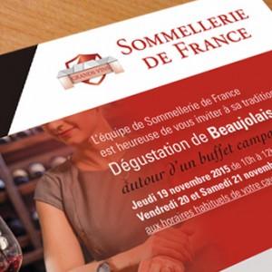 photo  Sommellerie de France   conception de flyer