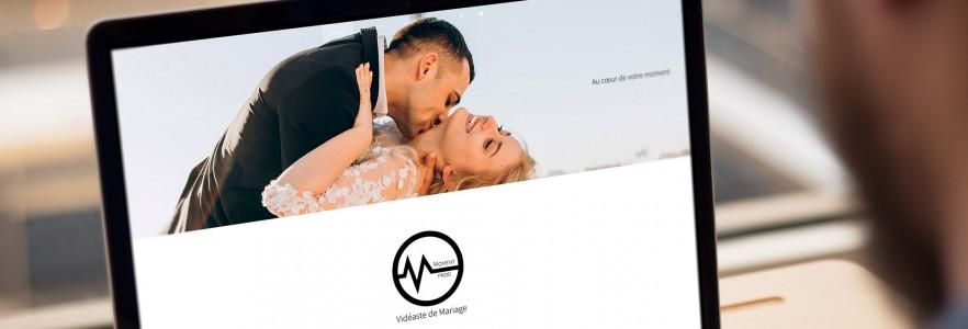 photo  Site MomentProd   Conception de site pour un vidéaste de mariage