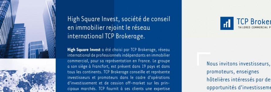 photo  TCP Brokerage   conception d'annonce presse pour revue spécialisée dans l'immobilier