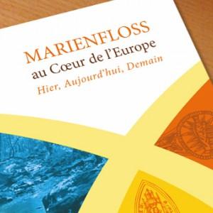 """photo  Association Chapelle de Marienfloss   conception d e la couverture du livre """"Marienfloss au coeur de l'Europe"""""""
