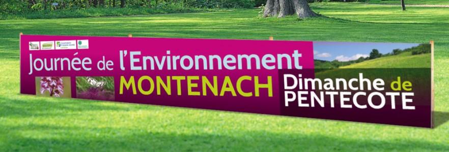 """photo  Association des 7 collines - Montenach   conception de  bâche signalétique """"journée de l'environnement"""""""