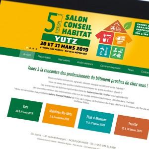 photo  Site Salons Conseil Habitat   Conception de site internet pour CH Events - organisateur d'événements