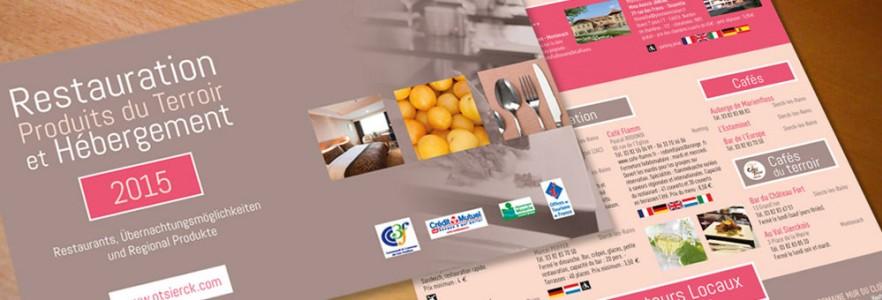"""photo  Office de Tourisme CC3F   conception d'un dépliant """"Restauration, produits du terroir et hébergement"""""""