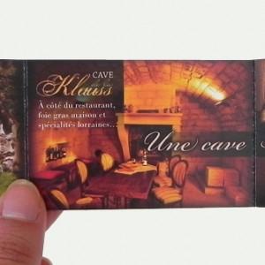 photo  Auberge de la Klauss   conception carte commerciale 3 volets