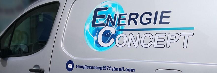 photo  Energie Concept   Conception marquage de véhicule commercial