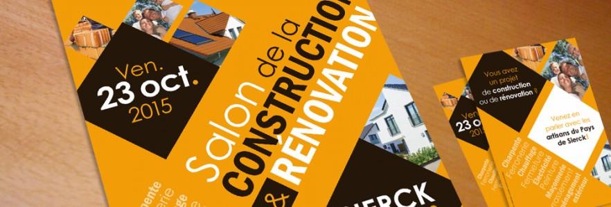 photo  Affiche et flyer Salon de la Construction   conception affiche et flyer