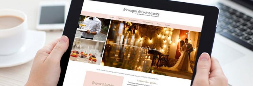 photo  Site Mariages et Evénements   Conception de site internet pour la société CH Events